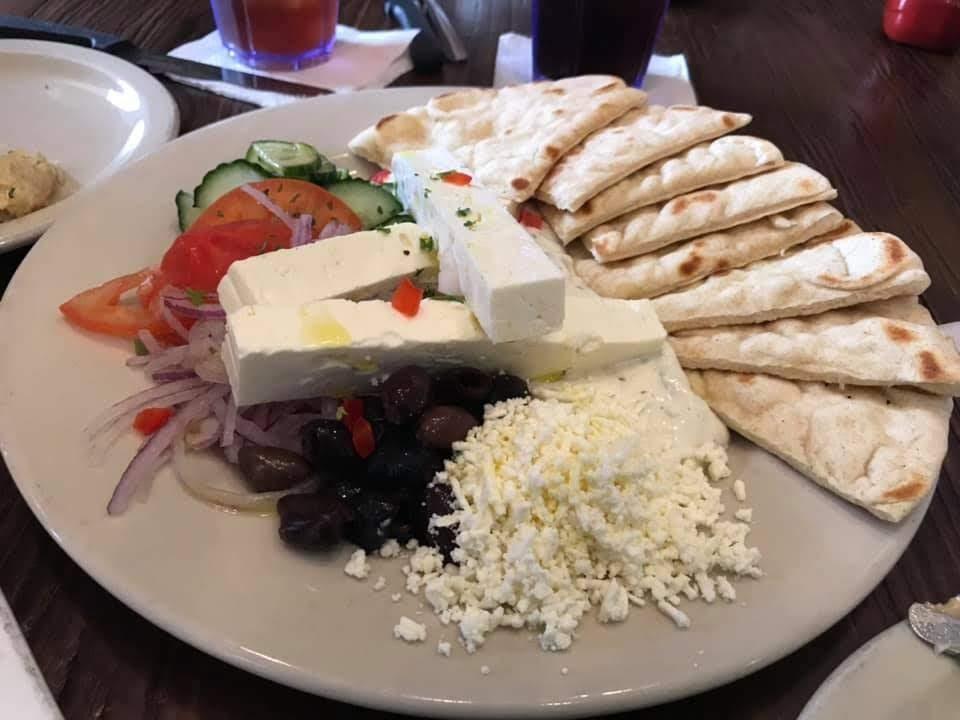 Cajun Greek Galveston Texas Tzatziki Plate