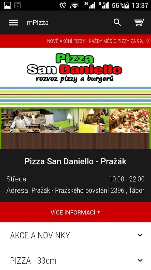 Pizzerie San Daniello Pražák- screenshot