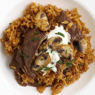 Beef and Mushroom Pilaf