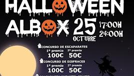 Detalle del cartel del evento de esta noche en Albox.