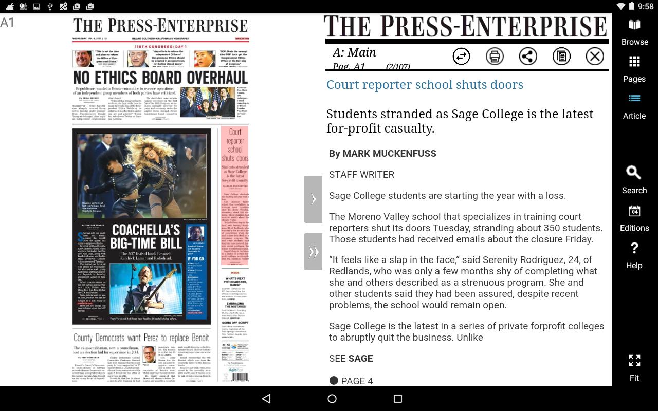 Press Enterprise- screenshot