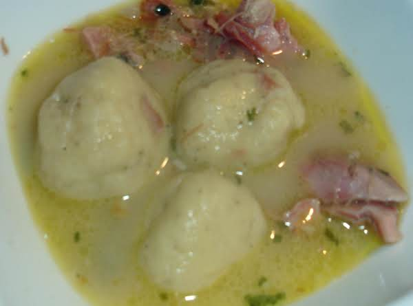 Ham Soup And Cornmeal Dumplings