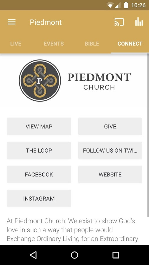 Piedmont Church- screenshot