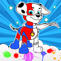 Paw Coloring Book for Puppy patrol for kids icon