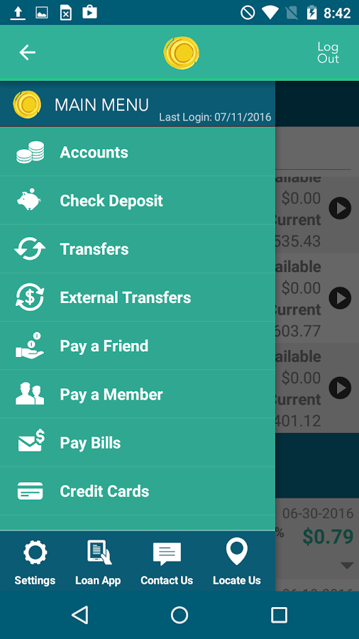 Heritage Credit Union- screenshot