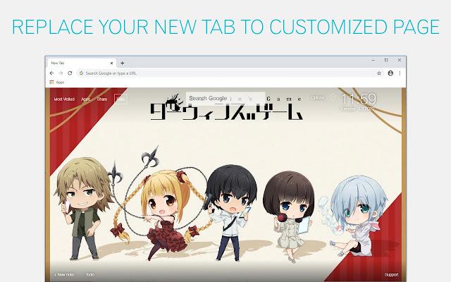 Darwin's Game Wallpaper HD Darwin's Game Anime New Tab
