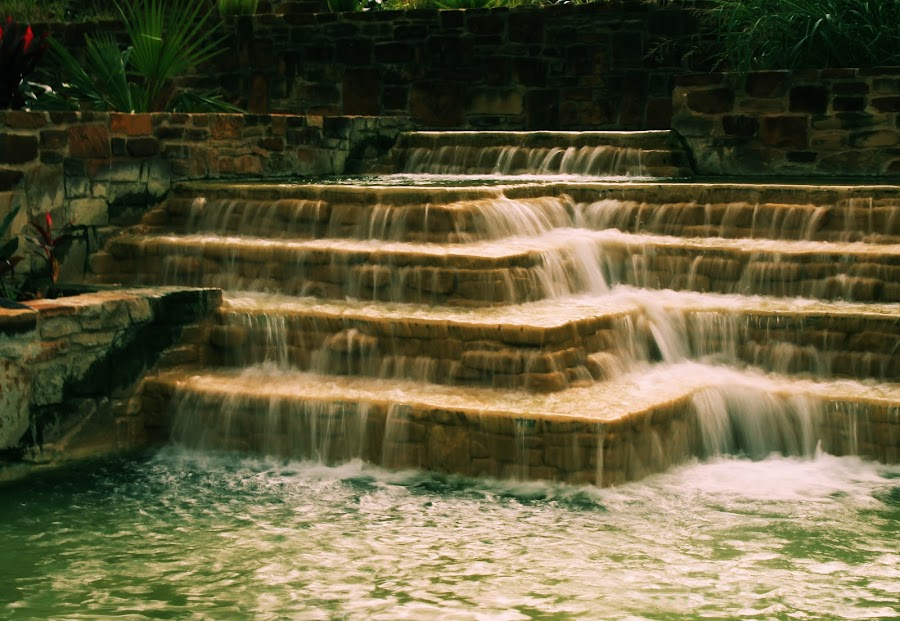 Whispy Waterfalls by Sarah Broadmeadow-Thomas - Landscapes Waterscapes ( water, waterfall )