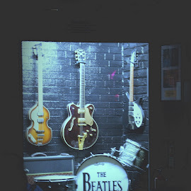 The Fab Four,Beatles by Gordon Westran - Artistic Objects Musical Instruments ( cavern, amp, drums, merseybeat, liverpool, beatles, guitar, group,  )