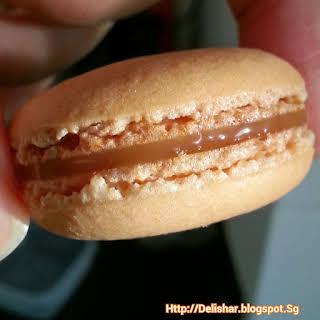 Caramel Filled Macarons.