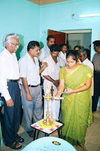 Photo: A Lady project officer(right) from JSS-Ministry of HRD lighting the lamp to mark the inauguration of the CTC