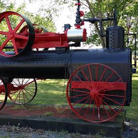Antique Steam Engine by Rita Goebert - Artistic Objects Antiques ( denton farm park campgrounds; denton; north carolina; steam engine; camping;  bluegrass festival,  )