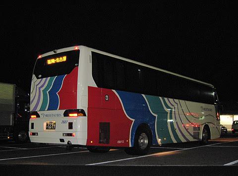 名鉄バス「どんたく号」 2607 リア