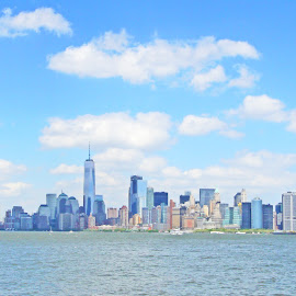 The ManhattanScape by Joatan Berbel - City,  Street & Park  Vistas ( cityscapes, skyline, city parks, colorful, waterscape )