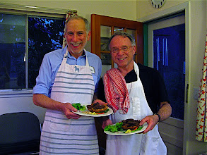 Photo: Rich and Curt with thier fried sour sausage plates 1