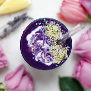 Lavender Purple Sweet Potato Anti-Stress Smoothie Recipe
