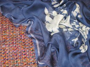 Photo: Ткань :Шанель ш. 140см. цена 4800 руб. Ткань :вуаль нат.шелк ш.140см.цена 2900руб.                 Коллекция :Shanel