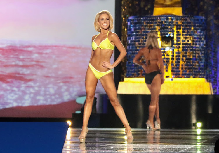 Miss South Carolina 2017 Suzi Roberts participates in the swimsuit competition during the 2018 Miss America Competition Show in New Jersey, America.