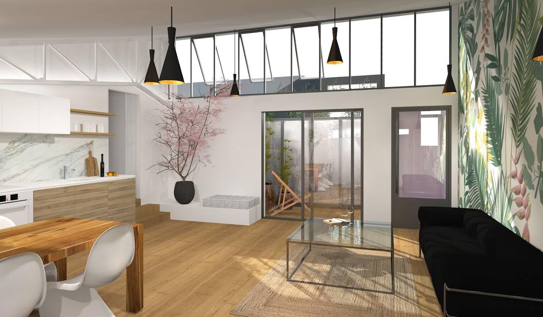Appartement contemporain avec terrasse Bordeaux