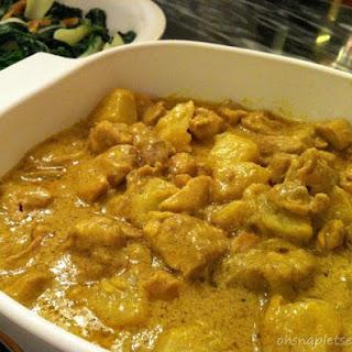 Coconut Milk Curry Chicken.