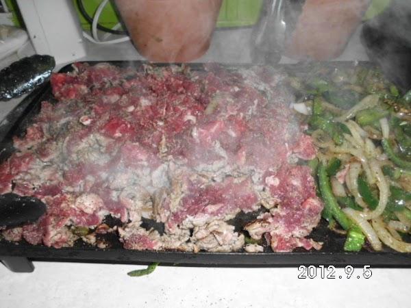 Season beef with favorite seasonings, I use granulated garlic and black pepper.  If...