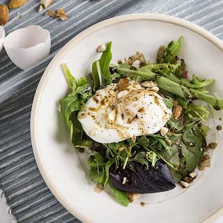Easy Poached Egg Arugula Salad.