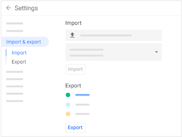 Import and export calendars and events