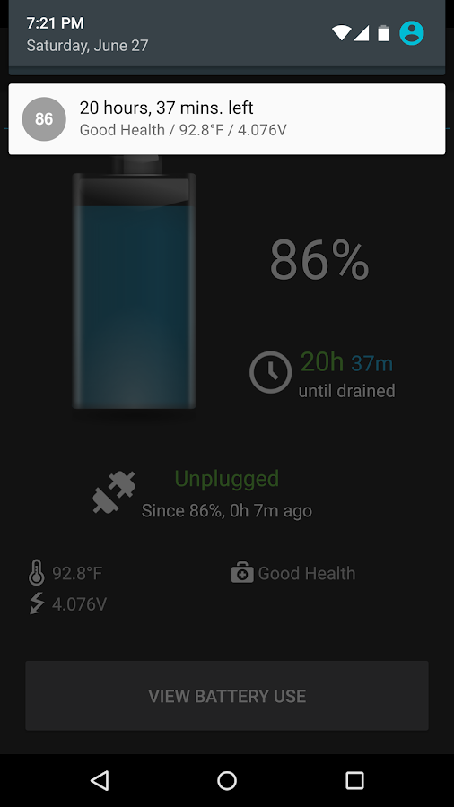 BatteryBot Battery Indicator- screenshot