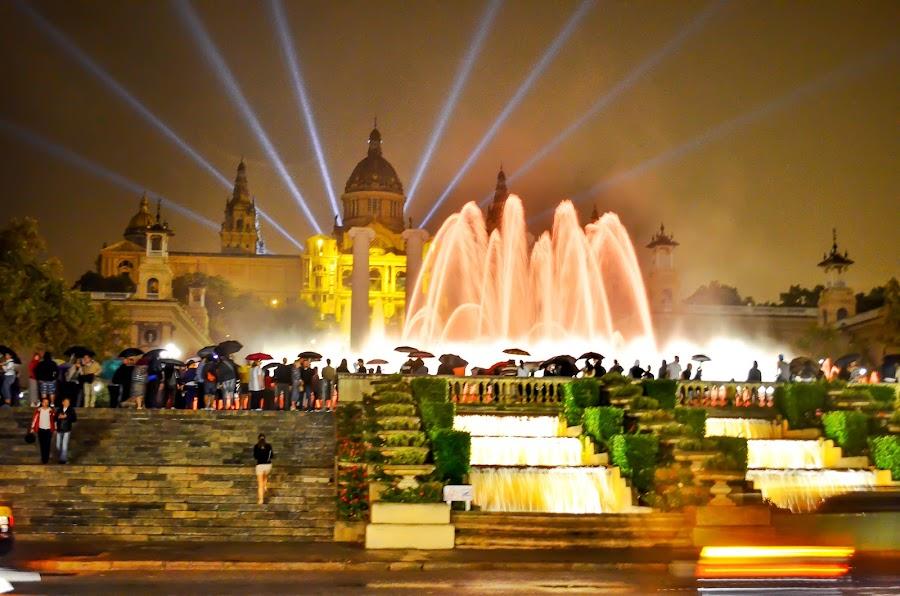 The Magic Fountain of Montjuïc by Kyen Ang - City,  Street & Park  Fountains