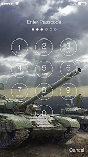 Tanks Battle Lock Screen - náhled