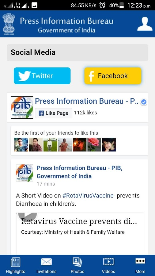 Press Information Bureau- screenshot