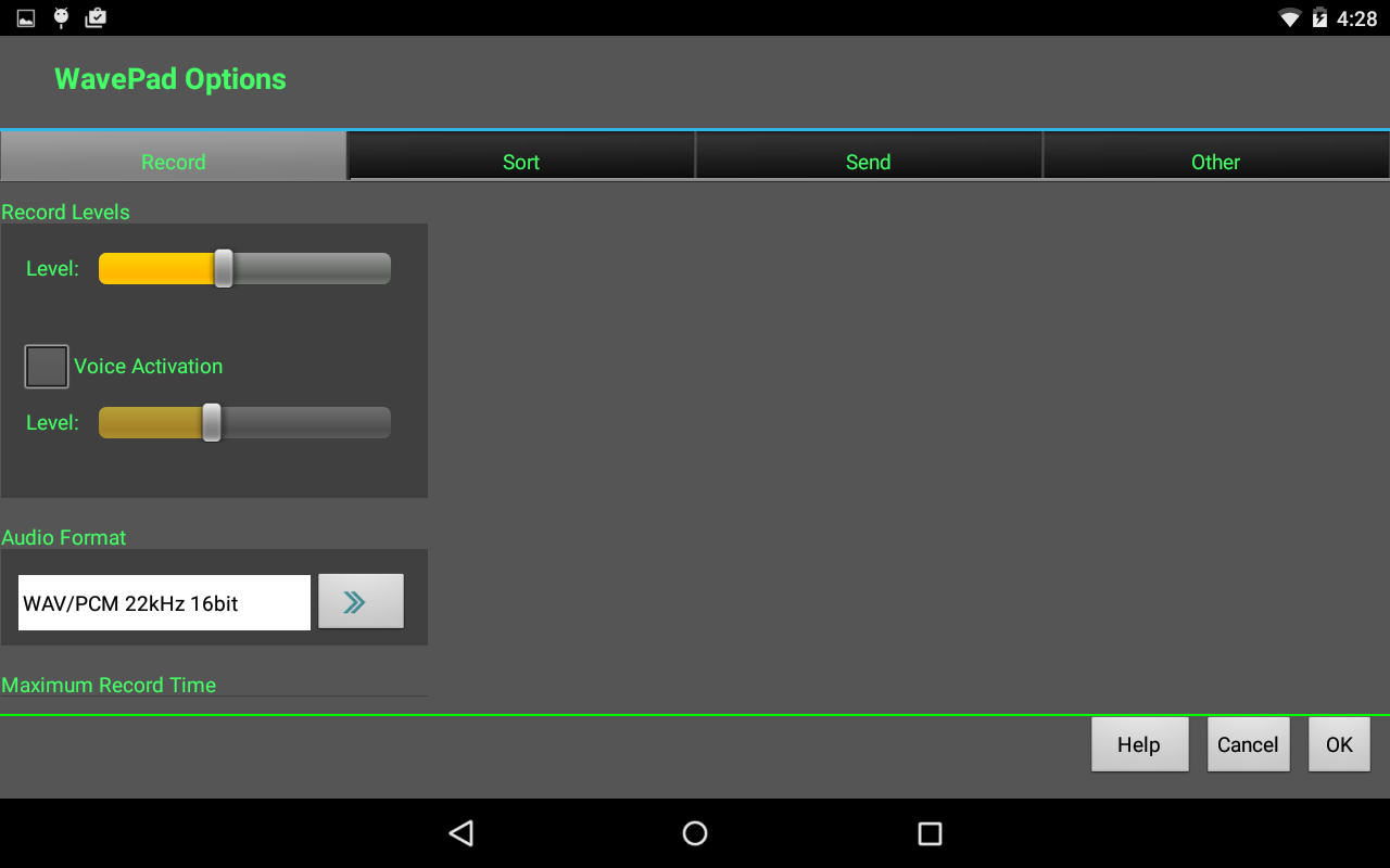 WavePad Audio Editor Free: captura de pantalla