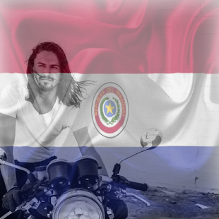 Paraguay Flag On Face Maker : Photo Editor - náhled