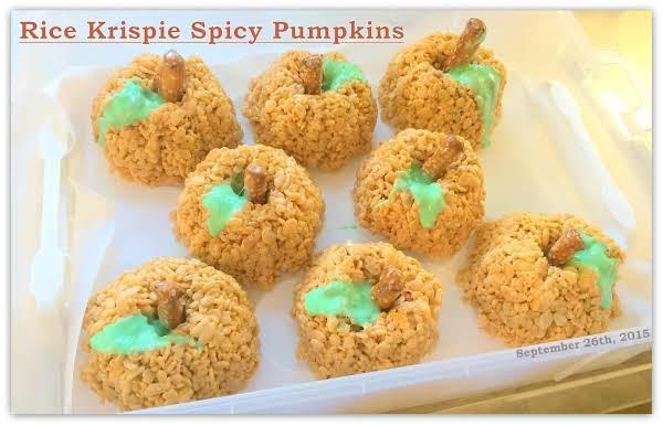 Rice Krispie Spicy Pumpkins