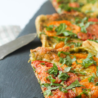 Tomato, Pesto and Mozzarella Tart