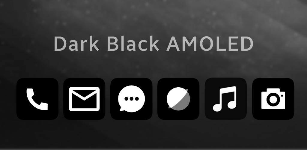 Miui 10 Dark Black AMOLED UI - Icon Pack APK Download com lohigno