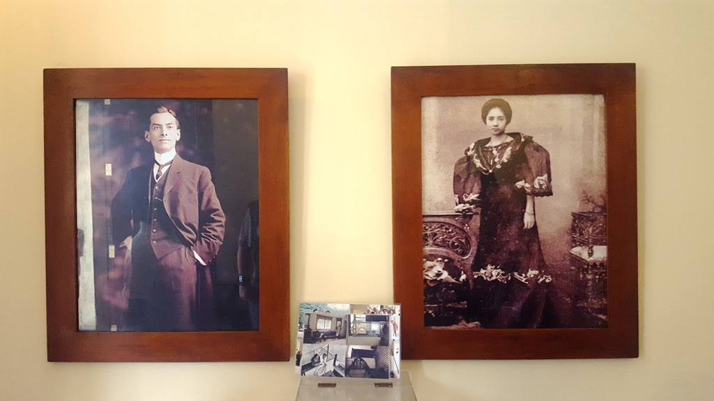 PORTRAITS OF PRES. MANUEL L. QUEZON AND AURORA ARAGON QUEZON INSIDE QUEZON HERITAGE HOUSE