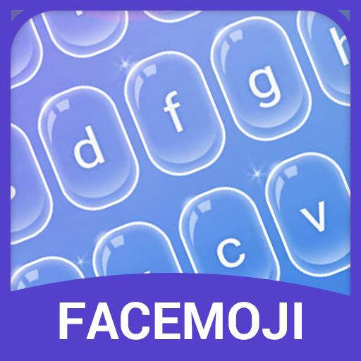 Purple Bubble Emoji Keyboard