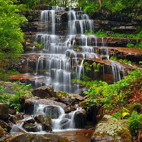 Tupavica Waterfall by Игор Ђорђевић - Landscapes Mountains & Hills