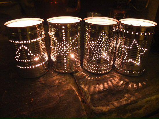 HandmadeChristmas hashtag on Twitter | Tin can lanterns, Can lanterns, Diy  christmas lights