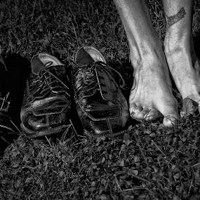 Devolved  by Gregg Eisenberg - People Body Parts ( shoes, feet, pwchandsandfeet )