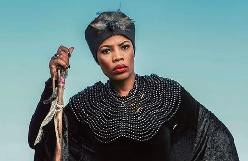 Winnie Ntshaba plays the character of the witch on The Herd.