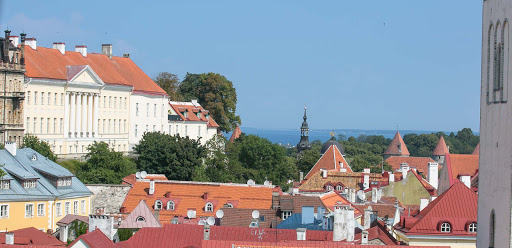 The pretty cityscape of Tallinn, Estonia.