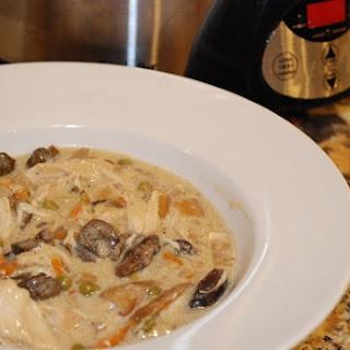 Creamy Mushroom and Chicken Stew Crock Pot