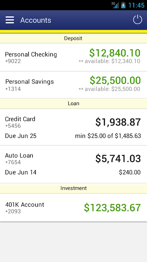 CCU FL Mobile Banking- screenshot