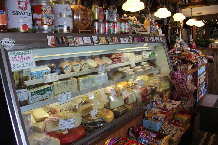 The epic cheese counter. Photo: Last Chance Antiques & Cheese Café.