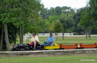 Photo: 1323    Engineer Bill Smith with owner Pete Greene    HALS Public Run Day 2013-0921 RPW