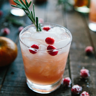 Cranberry, Clementine + Rosemary Cocktails.
