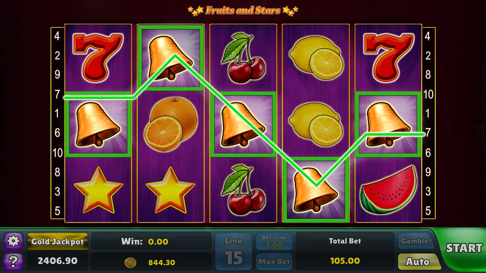 Fruits and Stars Slots – Casino Fruit Machine- screenshot