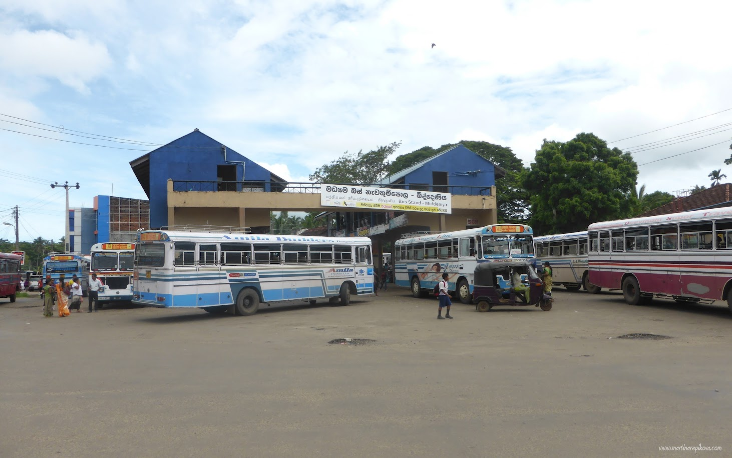 Bus station, Sri Lanka