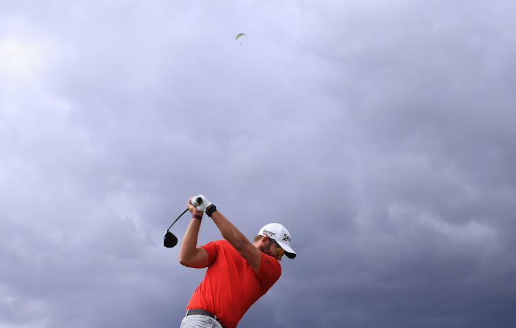 Dean Burmester of South Africa tees off during the final round of the Tenerife Open at Golf Costa Adeje in Tenerife, Spain, May 2 2021. Picture: WARREN LITTLE/GETTY IMAGES
